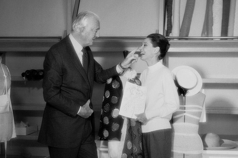 Audrey Hepburn und Hubert de Givenchy im Januar 1991