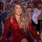 """""""Queen of Christmas"""" Mariah Carey setzt sich wie immer in die perfekt weihnachtliche Szene."""