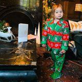 Kate Hudsons kleine Tochter Rani Rose hat sich passend zur weihnachtlichen Deko des Hauses in Schale geschmissen. Da rückt der Schlitten von Santa Claus glatt in den Hintergrund.