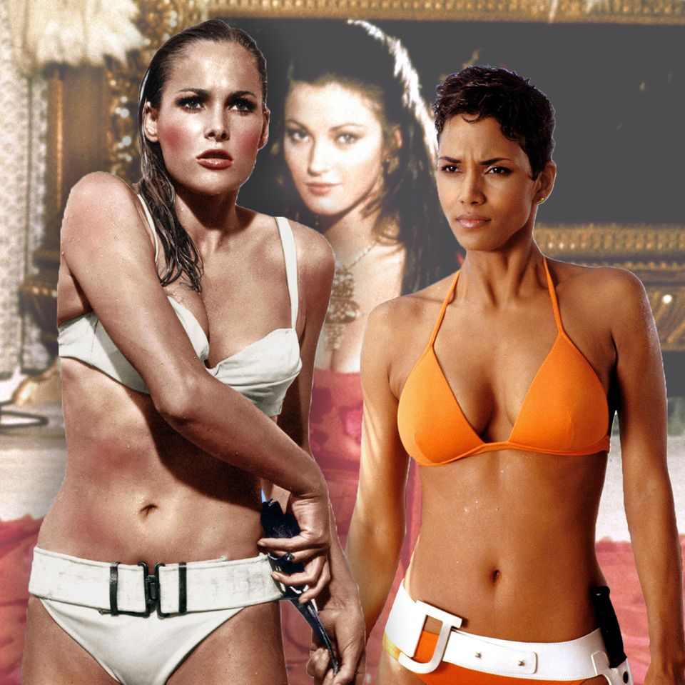Usula Andress, Jane Seymour, Halle Berry