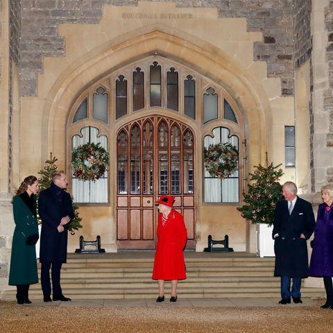 Prinz Edward, Gräfin Sophie von Wessex, Herzogin Catherine, Prinz William, Queen Elizabeth, Prinz Charles, Camilla Parker-Bowles, Prinzessin Anne