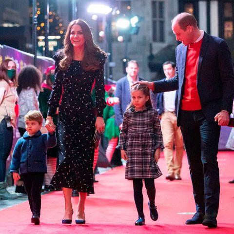 Prinz Louis, Herzogin Catherine, Prinzessin Charlotte, Prinz William, Prinz George