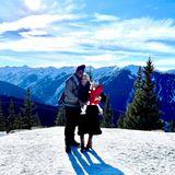 """Daniel Charlier und Sophia Vegas kehren mit Tochter Amanda nach Aspen zurück. Beim letzten Besuch war die Kleine noch nicht geboren. Auf Instagram schreibt Sophia Vegas: """"2020 vs 2018 gleicher Ort gleiche Zeit - Der einzige sehr entscheidende Unterschied, ich bin nicht mehr 8 Monate schwanger."""""""