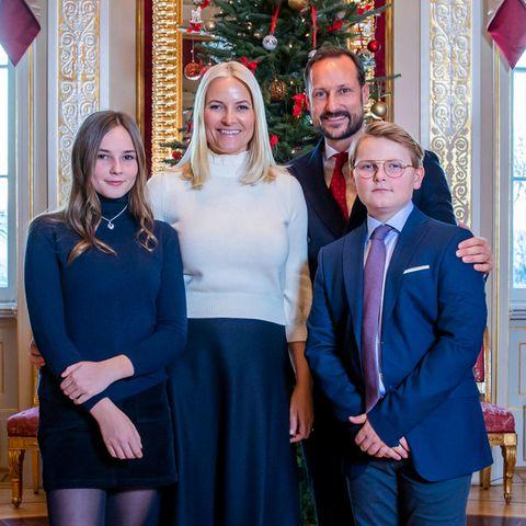 Kronprinz Haakon, Kronprinzessin Mette-Marit, Prinzessin Ingrid und Prinz Sverre Magnus