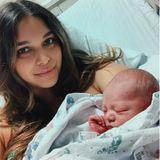 """April Love Geary und Robin Thicke   April Love Geary verkündet auf Instagram die Geburt ihres Sohnes Luca Patrick. Für sie und Sänger Robin Thicke ist es das dritte gemeinsame Kind. """"Mama & Papa lieben dich so sehr"""", fügt die frischgebackene Mutter hinzu."""