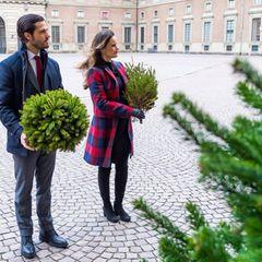 16. Dezember 2020  Prinz Carl Philip und Prinzessin Sofia absolvieren ihren ersten Termin außerhalb der Palastmauern nach Bekanntgabe der Baby-News. Vor dem schwedischen Königspalast nehmen sie Weihnachtsbäume entgegen. Dabei kann man auch einen tollen Blick auf Sofias süßen Babybauch erhaschen ...