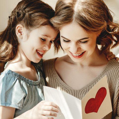 Gutscheine verschenken: Last minute ins Schwarze treffen, Mutter, Kind, Karte
