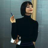 """Heike Makatsch als forsche Sekretärin Mia, die ihrem Chef schöne Augen macht, spielt in """"Tatsächlich Liebe"""" eine ihrer ersten internationalen Rollen."""