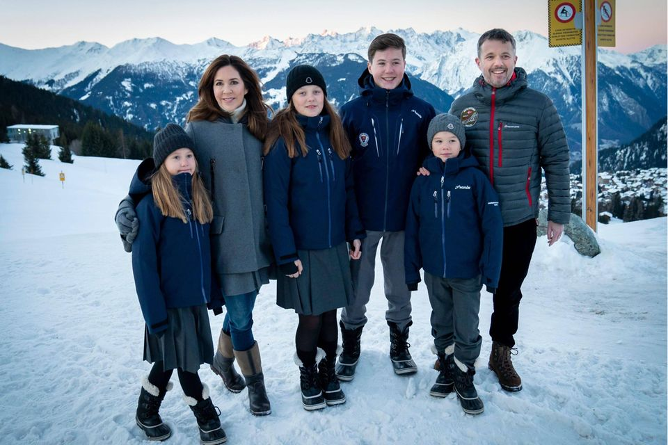 Prinzessin Josephine, Prinzessin Mary, Prinzessin Isabella, Prinz Christian, Prinz Vincent und Prinz Frederik