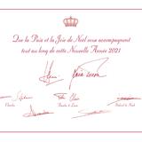 """23. Dezember 2020  Die diesjährige Weihnachtskarte der luxemburgischen Royals besteht aus zwei Seiten. Auf der ersten befinden sich die Unterschriften von Großherzog Henri, Großherzogin Maria Teresa und ihren fünf Kindern, inklusive der Botschaft: """"Möge der Frieden und die Freude an Weihnachten Sie während des neuen Jahres 2021 begleiten."""" Das eigentliche Highlight befindet sich aber auf Seite zwei."""
