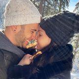 Wie romantisch! Luca Hänni und Christina Luft genießen ihr Liebesglück und das erste gemeinsame Weihnachtsfest in einer zauberhaften Winterlandschaft.