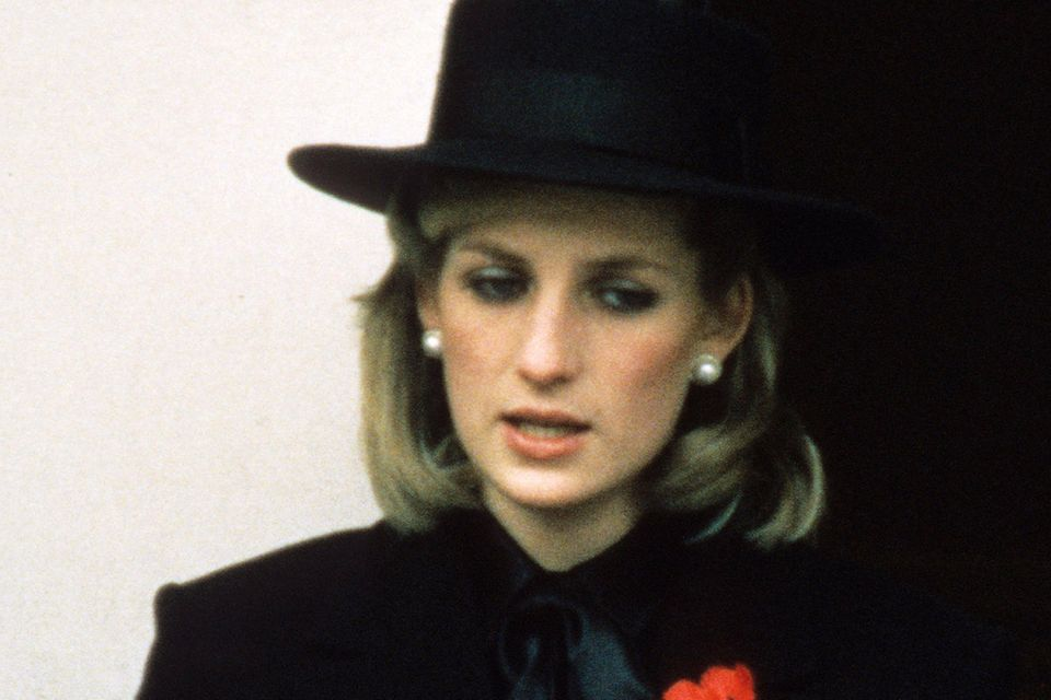 Prinzessin Diana am Remembrance Sunday 1984.