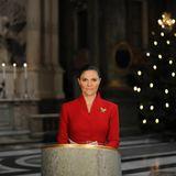 24. Dezember 2020  Prinzessin Victoria liest das Weihnachtsevangelium im digitalen Weihnachtsgebet in der Palastkirche in Stockholm.