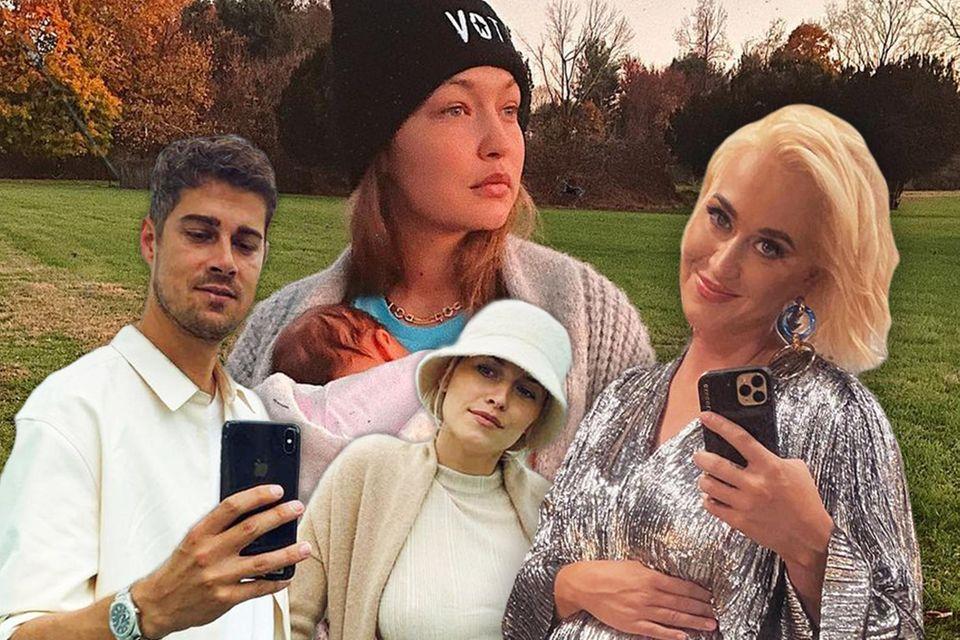 Lena Gercke, Gigi Hadid, Katy Perry + Co. freuten sich 2020 über Nachwuchs
