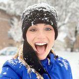 Michelle Hunziker kann so schnell nichts die gute Laune verderben. Auch nicht die winterlichen Temperaturen und der Schnee. Im Gegenteil, die Moderatorin freut sich auf das Schneemann-Bauen und die Schneeballschlachten.