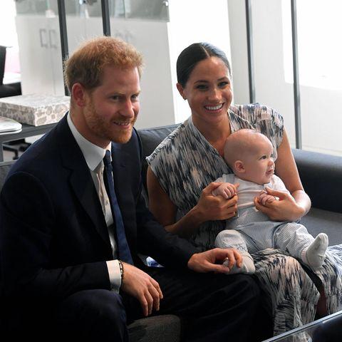 Prinz Harry, Herzogin Meghan und Sohn Archie.