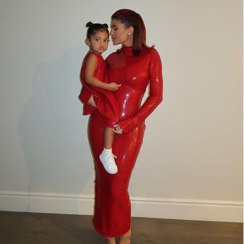 Kylie Jenner mit Tochter Stormi Webster.