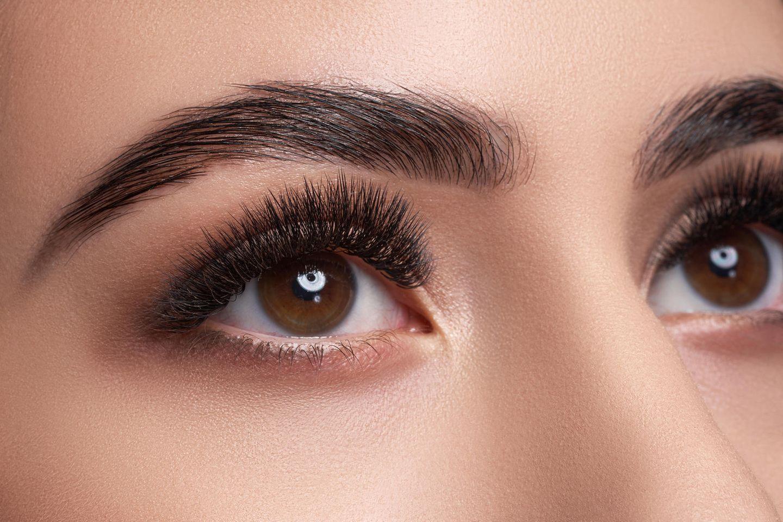 Augenpartie mit dichtem Wimpernkranz