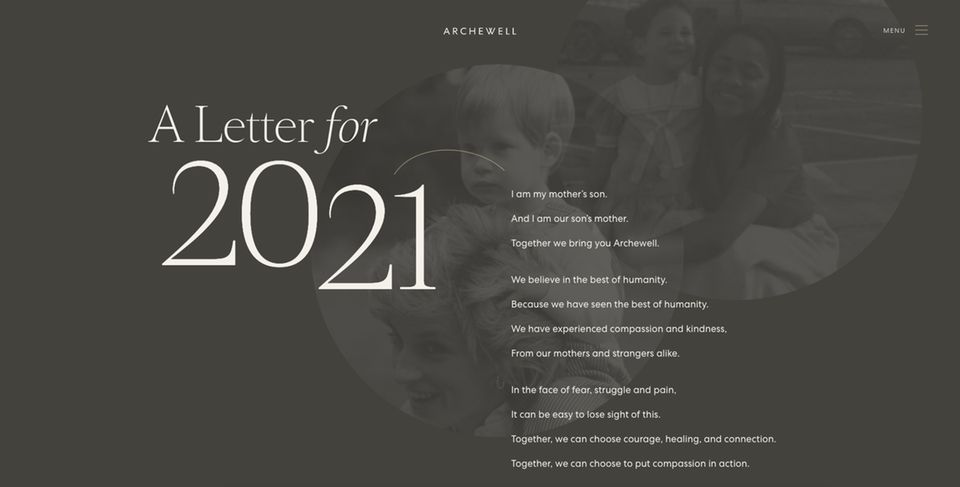 """Prinz Harry und Herzogin Meghan veröffentlichen emotionale Worte für das neue Jahr auf ihrer Website """"Archewell.com""""."""