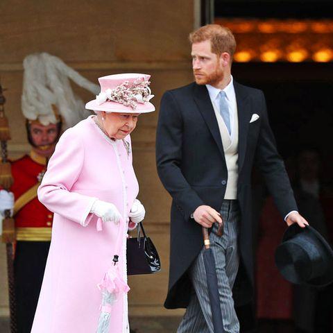 Queen Elizabeth und Prinz Harry