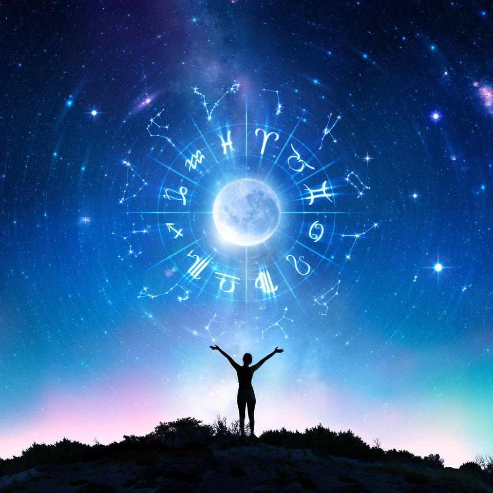 Der Mond und Sternzeichen
