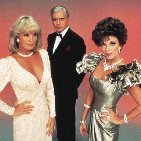 """Linda Evans, John Forsythe und Joan Collins in """"Der Denver Clan"""""""
