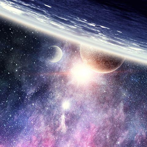 Sternzeichen-Planeten: Weltall mit Planeten