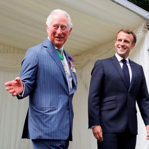Prinz Charles + Emmanuel Macron