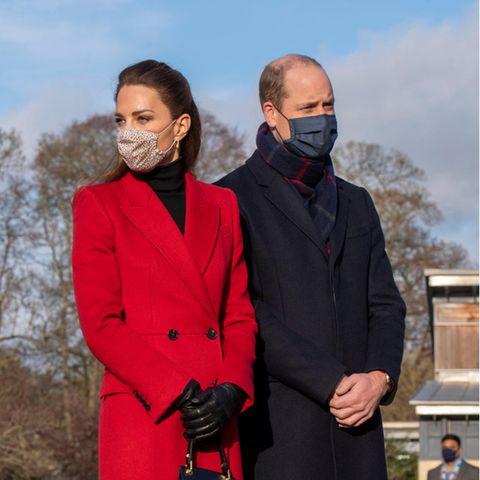 Herzogin Catherine und Prinz William besuchen am 8. Dezember 2020 ein Pflegeheim in Bath, England.