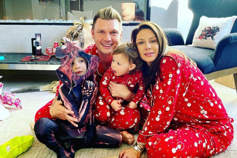 Nick Carter und Ehefrau Lauren mit ihren Kindern Odin und Saoirse