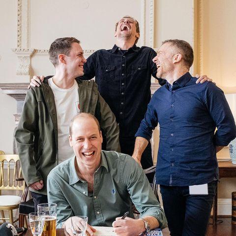 ChrisStark, Peter Crouch,Tom Fordyce und Prinz William