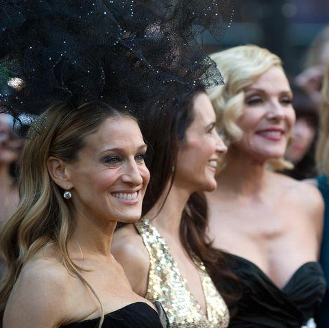 """""""Sex and the City"""": Die Hauptdarstellerinnen Sarah Jessica Parker, Kristin Davis, Kim Cattrall und Cynthia Nixon"""