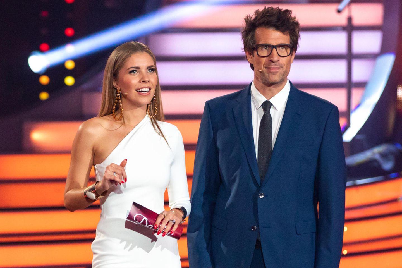 """Victoria Swarovski and Daniel Hartwich freuen sich auf """"Let's Dance""""."""
