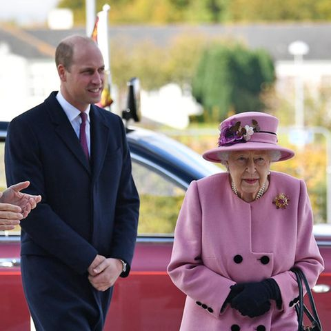 Prinz William und Queen Elizabeth