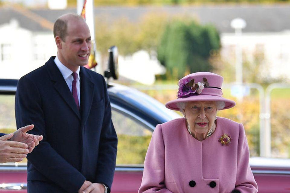 Prinz William und Queen Elizabeth