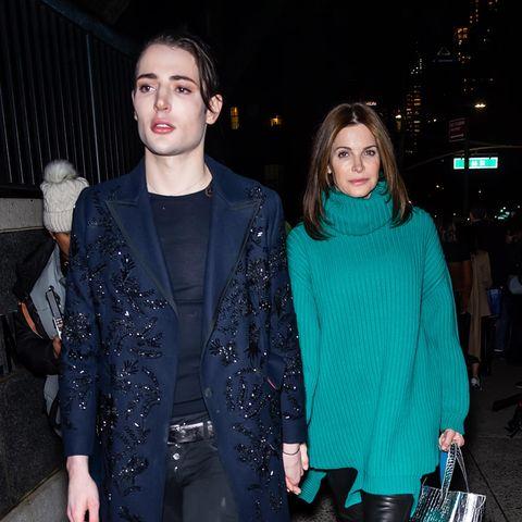Harry Brant und Stephanie Seymour im Februar 2020.