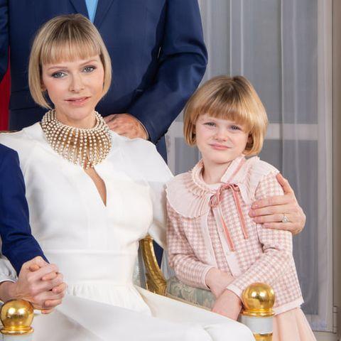 Fürstin Charlene + Prinzessin Gabriella