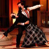 Bei Designerin Anja Gockel gibt es Tänzer, Karomuster und ganz ganz viel Drama.