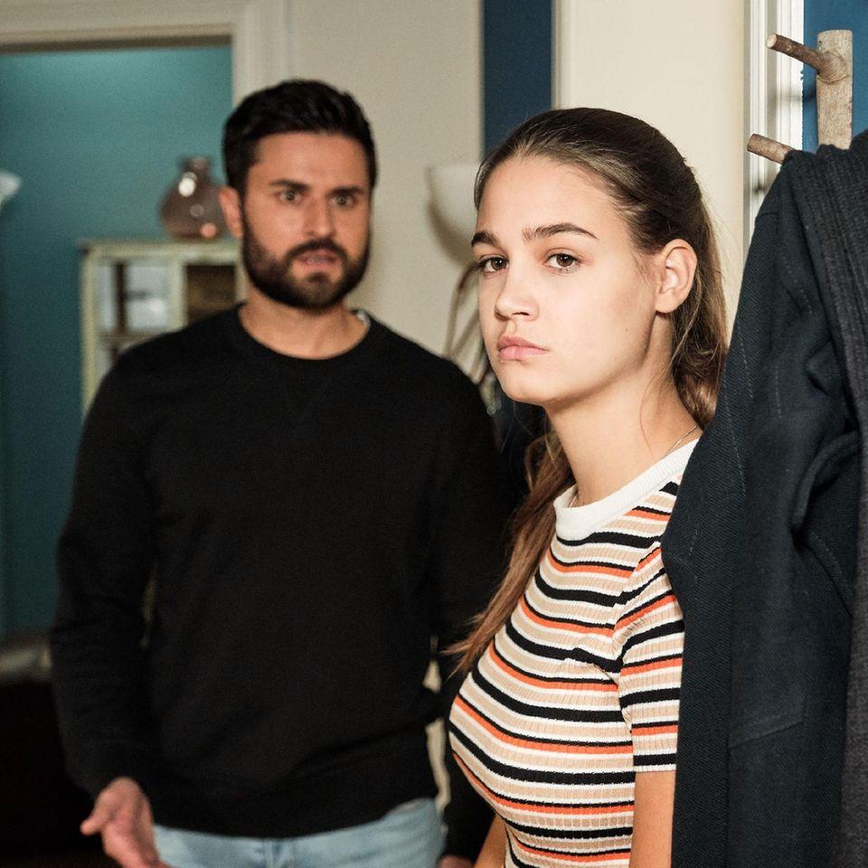 """Paco (Milos Vukovic) und Leni (Josephine Becker) bei """"Unter uns"""""""