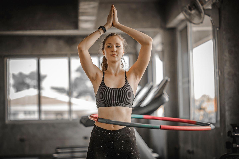 Bauch Fitness Erh/öHt Sch/öNheit 2 In 1 Fitness Gewichtsverlust Und Massage JieDianKeJi Gewichteter Hula Hoop F/üR Erwachsene Anf/äNger Fallen Nicht Abnehmbar