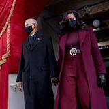 Es ist Tradition, dass die ehemaligen US-Präsidenten und First Layds die Inauguration des neuen Amtsinhabers und seiner Frau besuchen.Barack und Michelle Obama haben eine besondere Beziehung zu den Bidens: Von 2009 bis 2017 haben sie im Weißen Haus zusammengearbeitet. Joe Biden war damals der Vize Obamas.