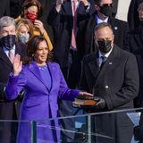 """Ein historischer Moment: Kamala Harris wird als erste Vizepräsidentin in der Geschichte der USA eingeschworen. Ihr Ehemann Douglas wird dadurch der erste """"Second Gentleman"""", der erste """"Zweite Mann"""" im Land."""