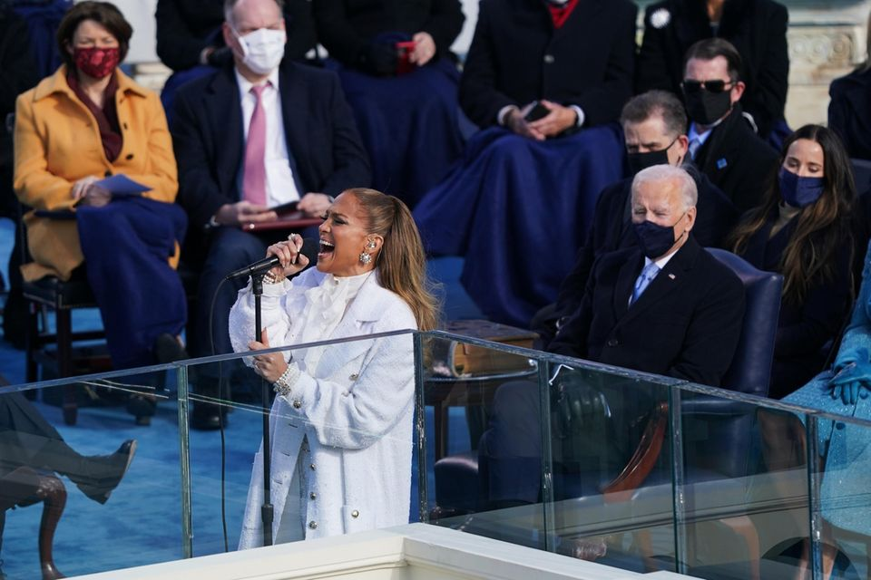 Jennifer Lopez singt bei Joe Bidens Amtseinführung