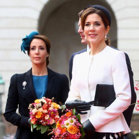 Prinzessin Marie(l.) und Prinzessin Mary.