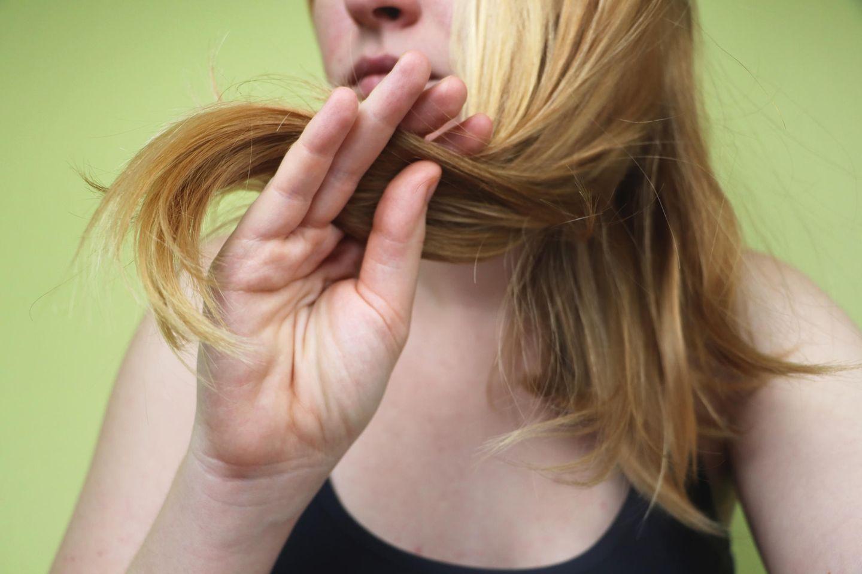 Haare mit Grünstich