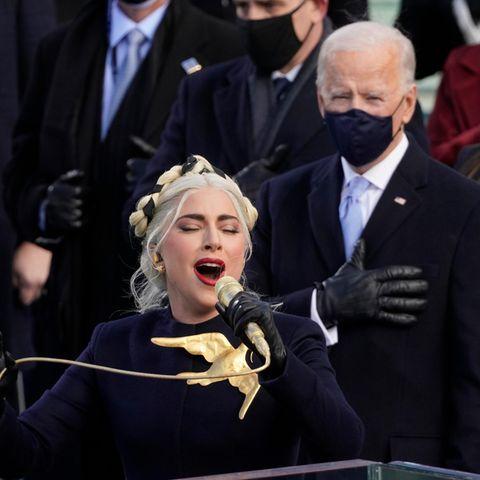 Lady Gaga bei der Amtseinführung von Präsident Joe Biden