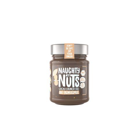 """Bio-Lieblinge fürs BrötchenDie 100% natürlichen und sündhaft leckeren Nussmus-Kreationen bekommen einen Stammplatz im Küchenregal. Yummy! """"Erdnussmus mit Cacao Crunch"""" von Naughty Nuts, ca. 6,99 Euro"""