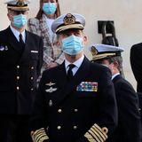 21. Januar 2021  In passender Uniform besucht König Felipe in Cadiz das Hydrografische Institut der Marine.