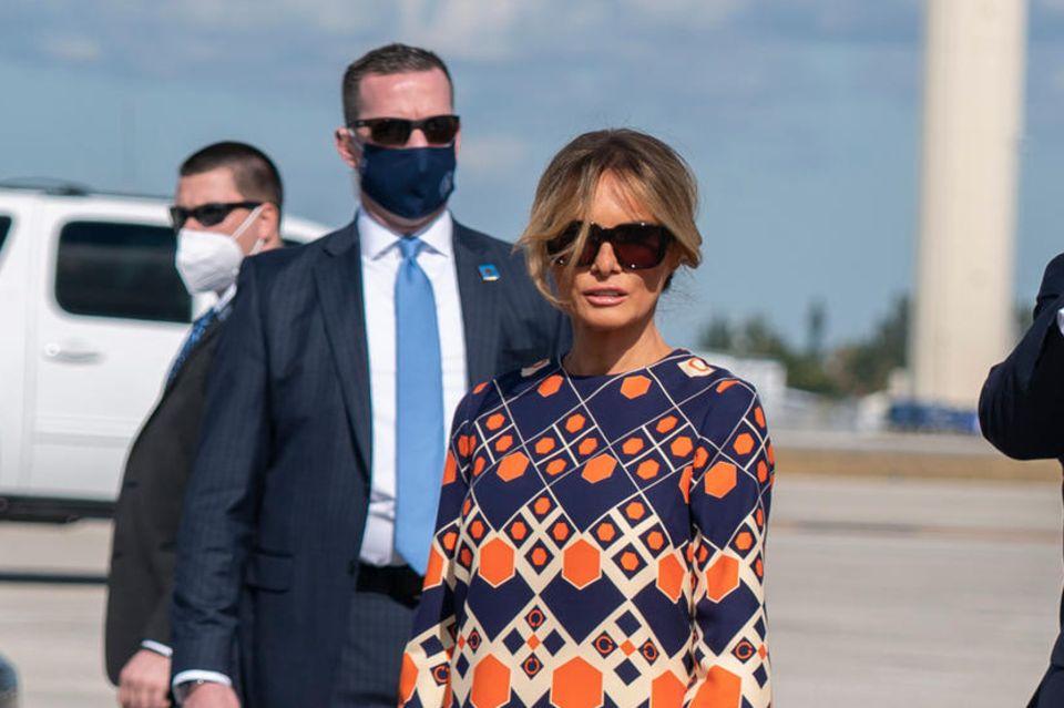 Melania Trump kommt am 20. Januar am Flugplatz in Palm Beach an. Seitdem hat man sie öffentlich nicht mehr gesehen.