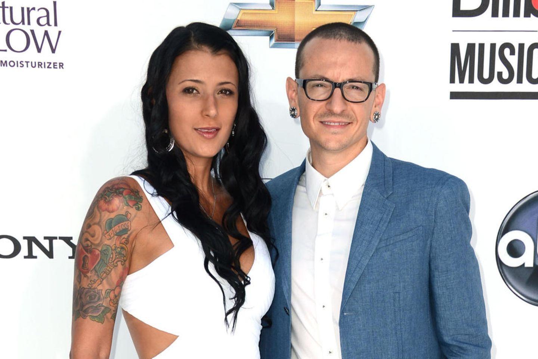 Talinda und Chester Bennington (†)2012 bei den Billboard Music Awards